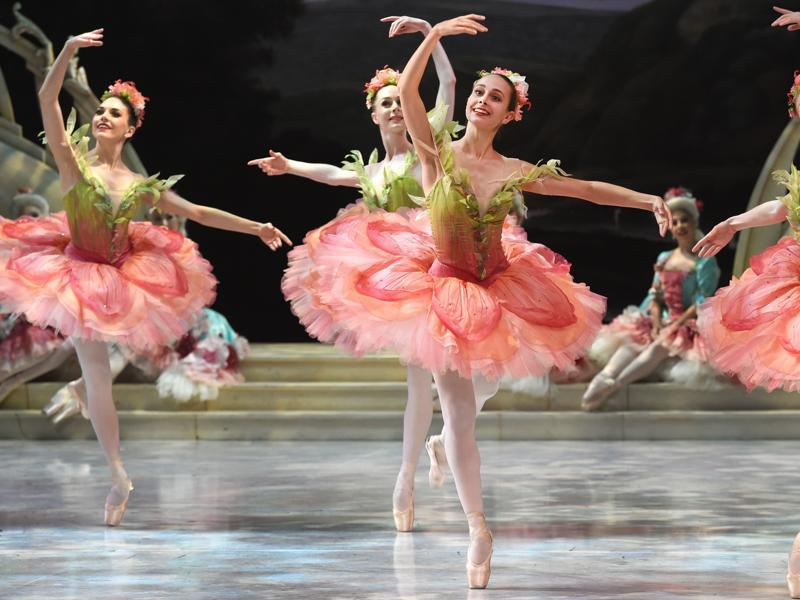 The support cast of The Sleeping Beauty during their performance at the Sydney Opera House. (AFP)