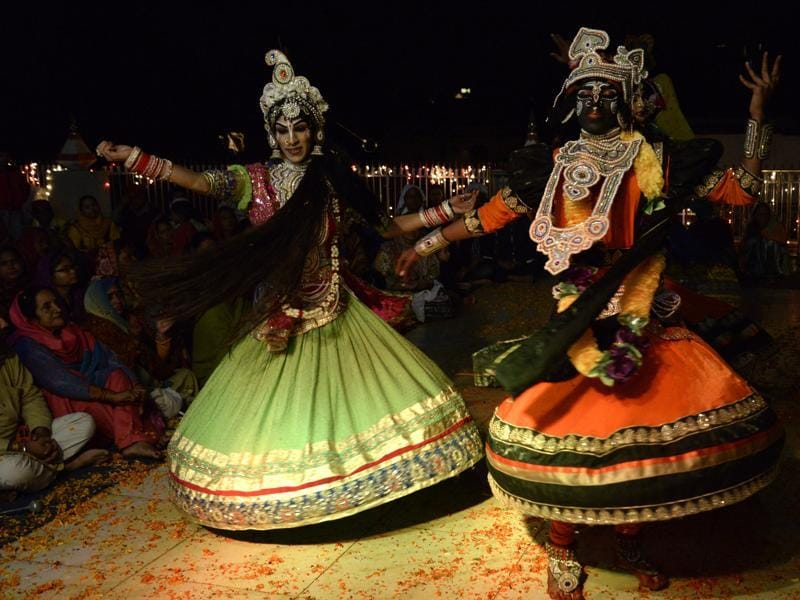 This annual Hindu festival is celebrated on the full moon night of the Hindu month of Kartik to mark Lord Krishna's love for Radha, his consort (AFP)