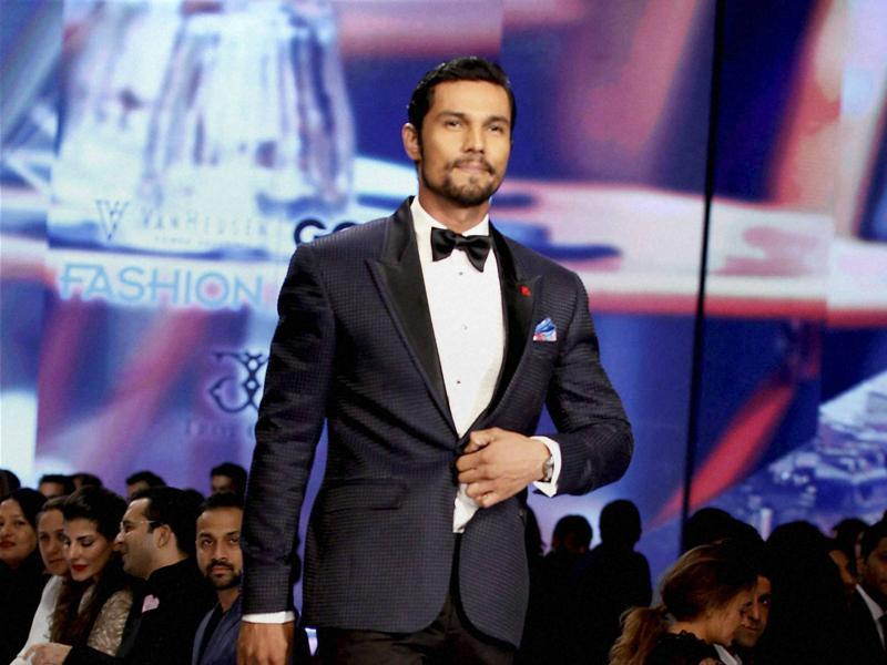 Randeep Hooda was in his elements during the show. (PTI)