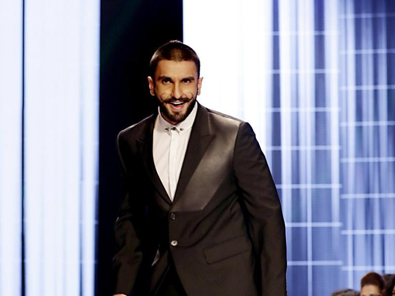 Ranveer Singh is the most fun guy, even over a ramp. (AFP)