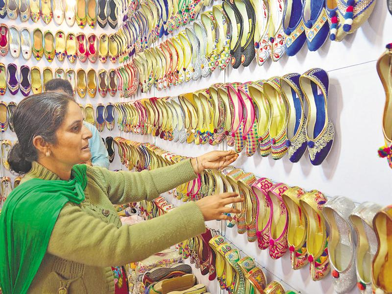 The five-day trade exhibition will continue till December 7  in Amritsar.   (Sameer Sehgal/HT Photo)