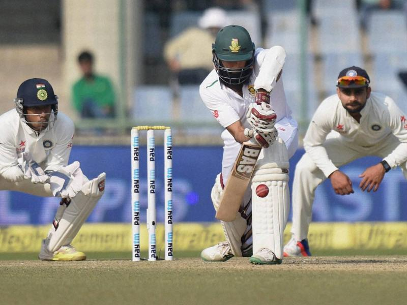 South Africa's Hashim Amla plays a shot. (PTI photo)