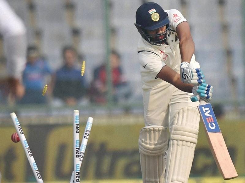 India's Rohit Sharma castled by Morne Morkel. (PTI Photo)