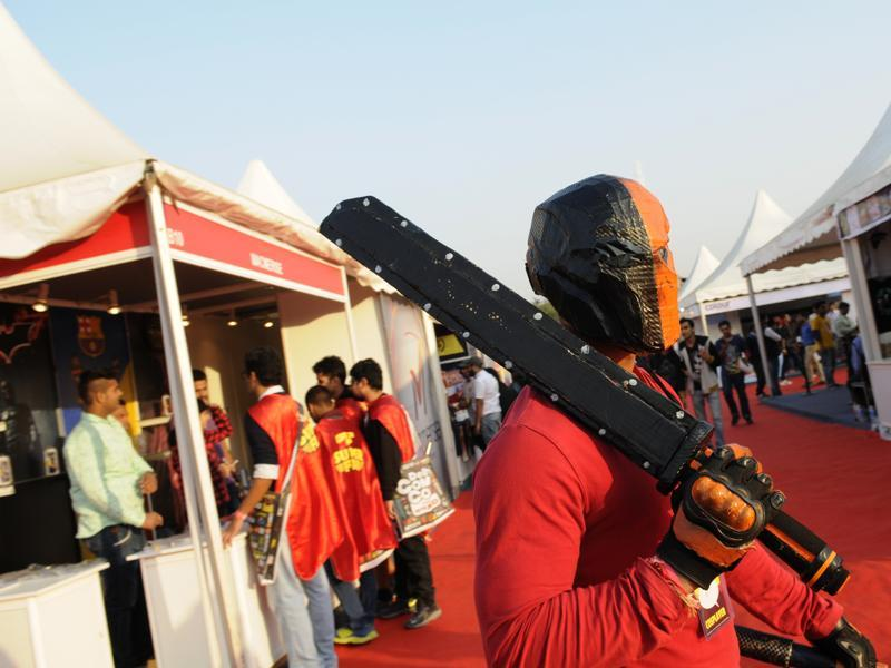 Delhi Comic Con 2015 attracted comic fans from across Delhi sporting the costumes and gears of their favourite comic characters. (HT Photo)