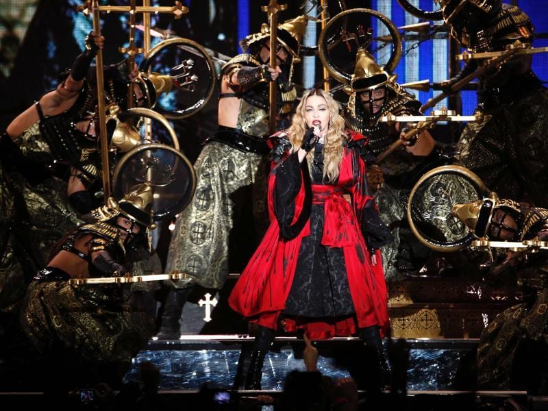 Queen of pop Madonna performs during a lavish Japan-influenced concert in Paris. (AFP)