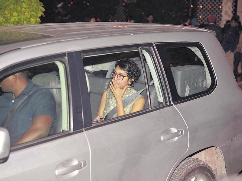 Kiran Rao reaches for the party. (HT Photo)