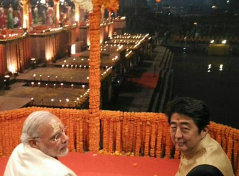 The two Prime Ministers take forward the Kyoto-Varanasi Partnership . (MEA India)