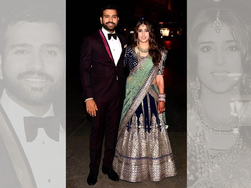 Cricketer Rohit Sharma tied the knot with long-time girlfriend Ritika Sajdeh on Sunday. A host of celebrities from sports and cinema industry attended the grand wedding. (PTI)