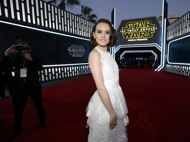 Actor Daisy Ridley, who plays Rey in Star Wars: The Force Awakens arrives for the world premiere in Hollywood. (REUTERS)