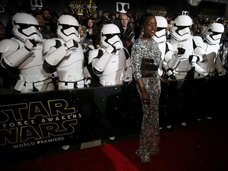 Actor Lupita Nyong'o arrives at the premiere of Star Wars: The Force Awakens in Hollywood. (REUTERS)