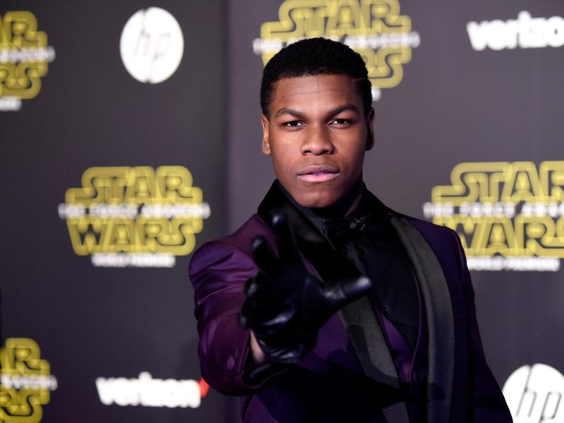 Actor John Boyega attends the premiere of Walt Disney Pictures and Lucasfilm's Star Wars: The Force Awakens in Hollywood, California. (AFP)