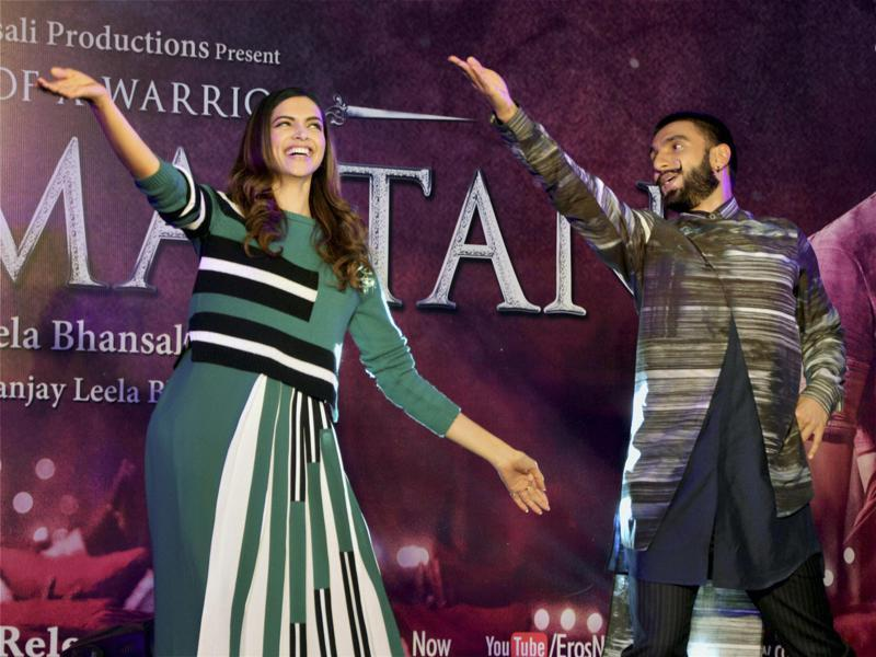 Ranveer Singh and Deepika Padukone danced to the tunes of Bajirao Mastani in the national capital recently where they promoted the upcoming film. (PTI)