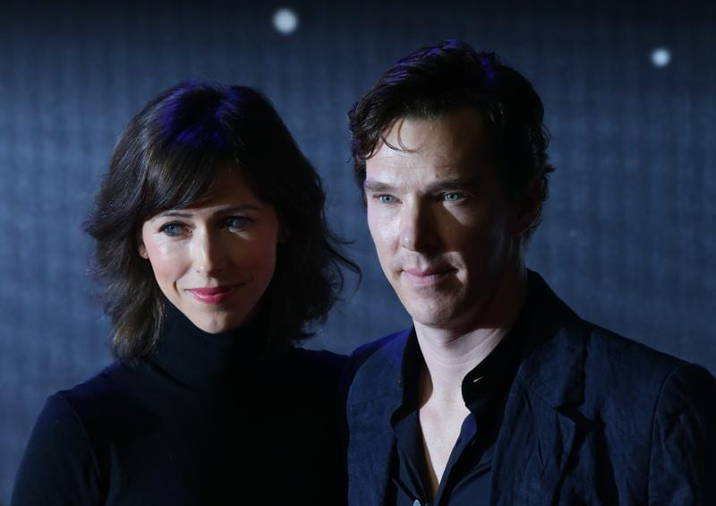 British actor Benedict Cumberbatch and wife Sophie Hunter attend the opening of the European Premiere of Star Wars: The Force Awakens in central London. (AFP)
