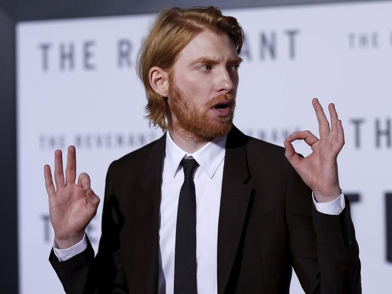 Cast member Domhnall Gleeson poses at the premiere of The Revenant. (REUTERS)