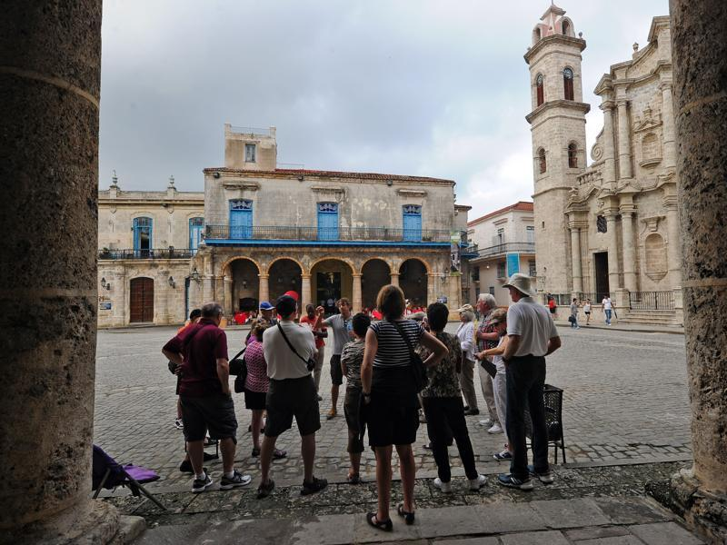 Old Havana (Havana Vieja) was founded by the Spanish in 1519 in the natural harbour of the Bay of Havana. Tourists visit the Old Havana, on December 16, 2015.  (AFP)