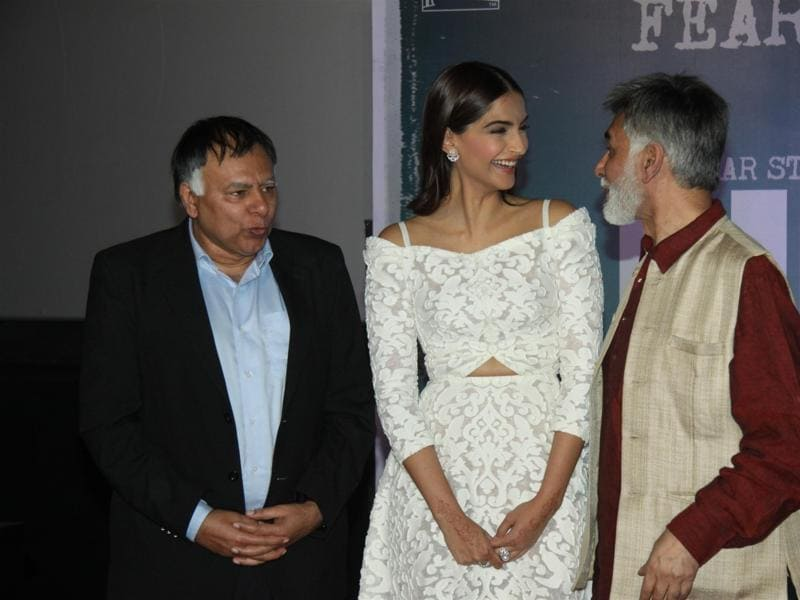 Brothers of Neerja Bhanot, Aneesh and Akhil, too, attended the trailer launch of Sonam Kapoor's biopic on the air hostess.  (IANS)