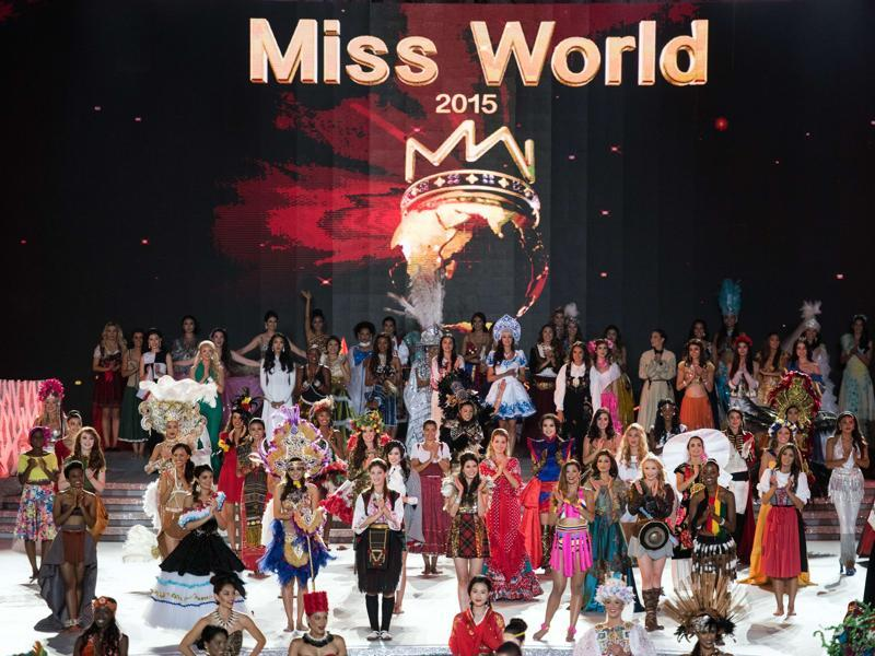 Contestants from over 110 countries compete in the final of the 65th Miss World Competition.  (AFP)