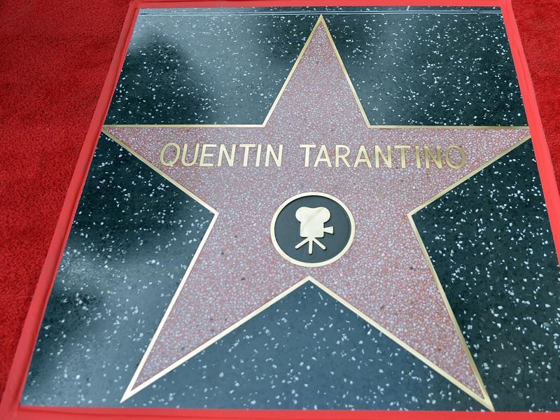 Director Quentin Tarantino's star on the Hollywood Walk of Fame, in Hollywood, California. (AFP)