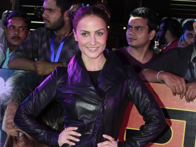 Indian Bollywood actress Elli Avram attends the India premiere of Hollywood film Star Wars – The Force Awakens.  (AFP)