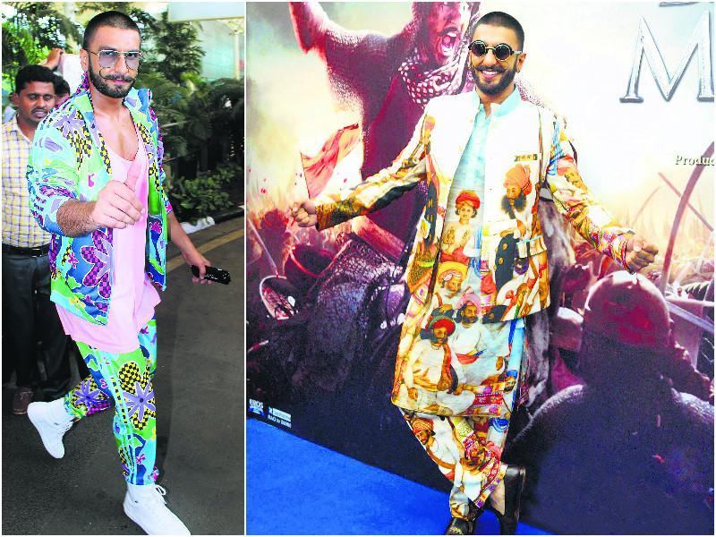 Ranveer Singh's ability to shock with his clothes continued this year, as the actor experimented with even more bizarre looks. One element that he sported a couple of times this year was prints. From botanical to artistic, Ranveer didn't shy away from anything.
