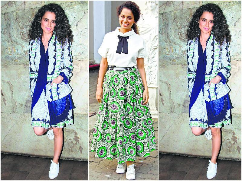 There is no denying that Kangana Ranaut is one of the most stylish actors in the industry. Hence, it comes as no surprise that whatever she sports, becomes a trend. Her love for white sports shoes was quite apparent this year, as she paired them with diverse looks.