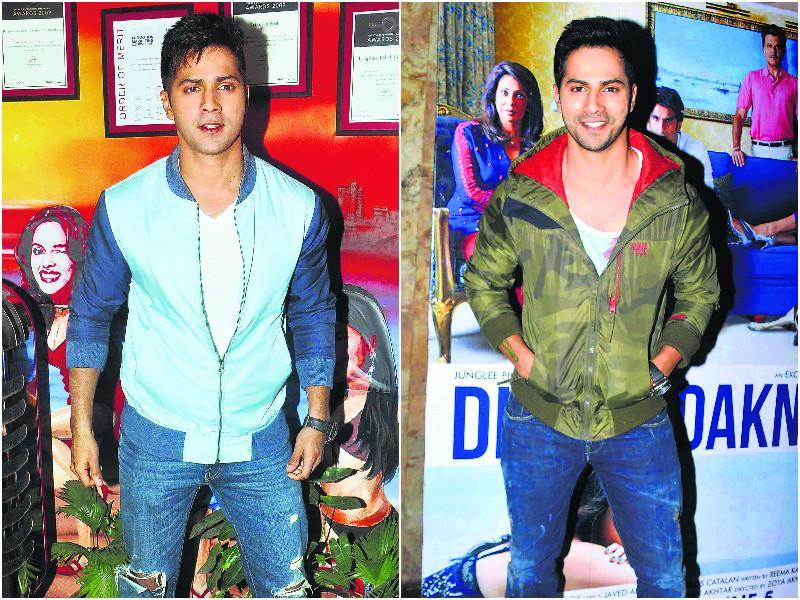 Varun Dhawan showcased his casual dress sense at many dos, and made jackets his favourite accessory this year. Even though Mumbai barely has a winter, Varun wore these jackets at several events.  (Text: Ruchika Kher)