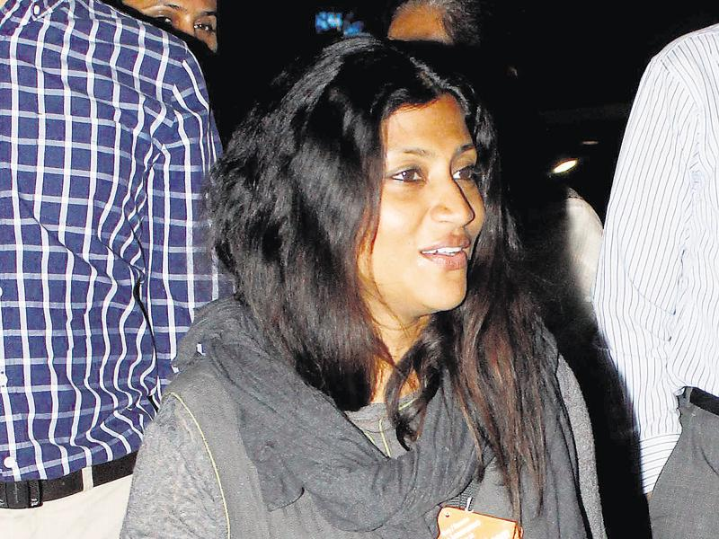 Konkona Sensharma spotted at the Mumbai airport. (Photo: Yogen Shah/HT)