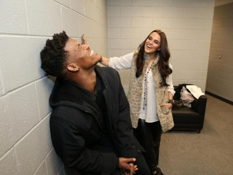 Neha Dhupia spotted with NBA Chicago Bulls' shooting guard Jimmy Butler.