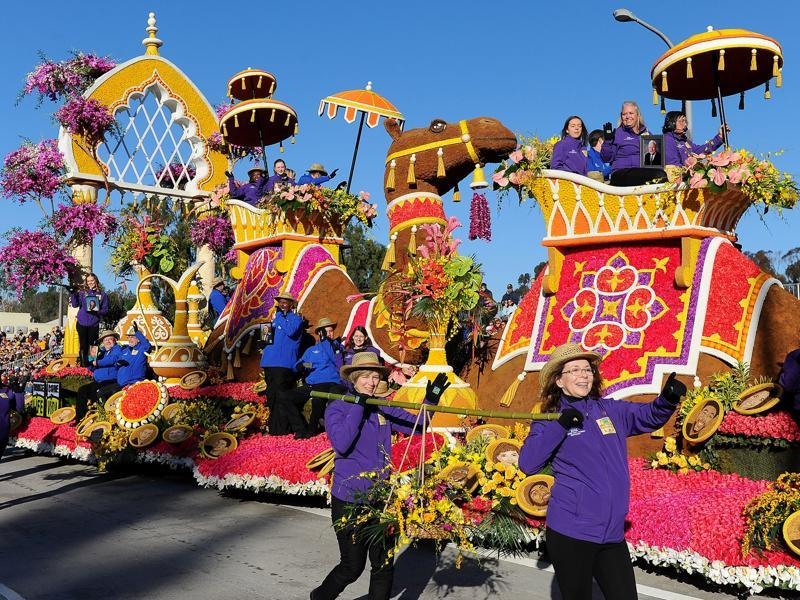 The Rose Parade, also called as the Tournament of Roses, is an annual parade held in Pasadena, California as part of USA's New Year's celebrations. It takes place on New Year's Day, unless the day falls on a Sunday, in which case it happens on Monday. (AP)