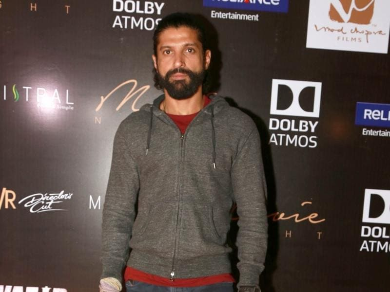 Farhan Akhtar during a press conference to promote Wazir in New Delhi.  (IANS)