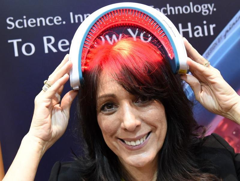 And for the hair, there is Hairmax LaserBand 82 grow hair by increasing blood flow to the scalp and stimulating hair follicles.  (AFP)