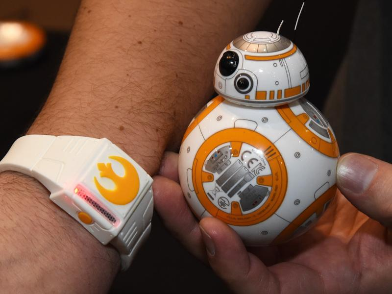 Sphero's BB-8 is already available in the market, but the Force Bracelet eliminates the necessity of an app to control it. All you need are hand gestures.  (AFP)