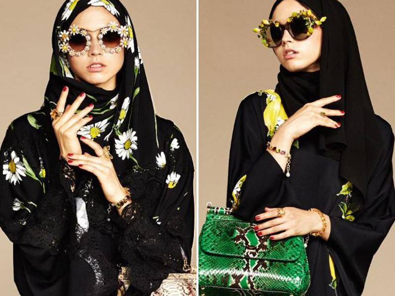 Women from wealthy oil states have long expressed their flair for fashion with pricey handbags and shoes. And this Dolce & Gabbana collection of hijabs and abayas targets wealthy Muslim women in the Middle East. (Instagram)