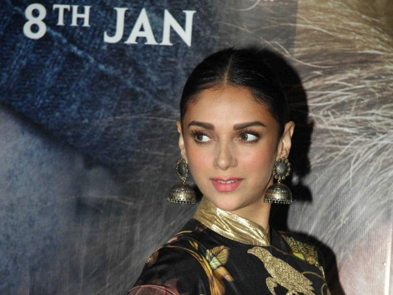 Aditi Rao Hydari during the special screening of Wazir in Mumbai.  (IANS)