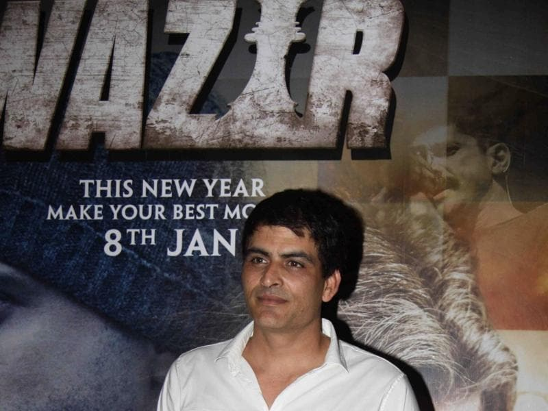 Manav Kaul during the special screening of Wazir in Mumbai. (IANS)