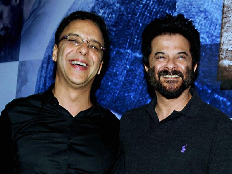 Vidhu Vinod Chopra and actor Anil Kapoor during the screening of Wazir in Mumbai . (PTI)