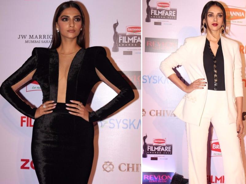 The industry's style divas -- Sonam Kapoor and Aditi Rao Hydari -- wowed the guests.  (IANS)