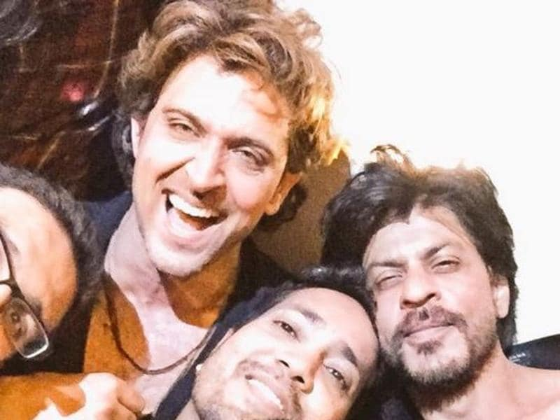 Checkout this amazing selfie that has Hrithik Roshan, Shah Rukh Khan and Mika Singh.  (Twitter)