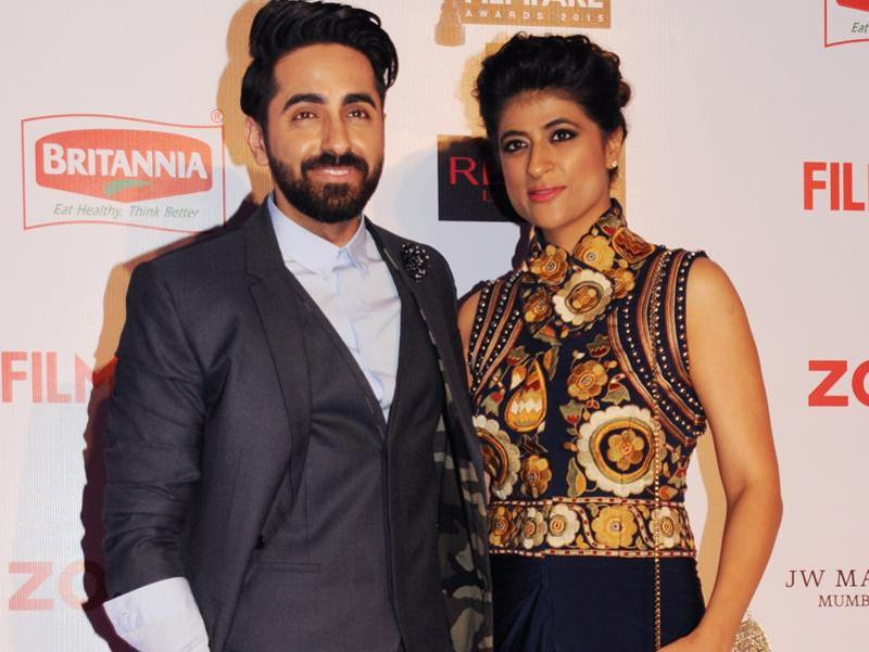 Actor-singer Ayushman Khurana attended the do with his wife Tahira Kashyap. (AFP)