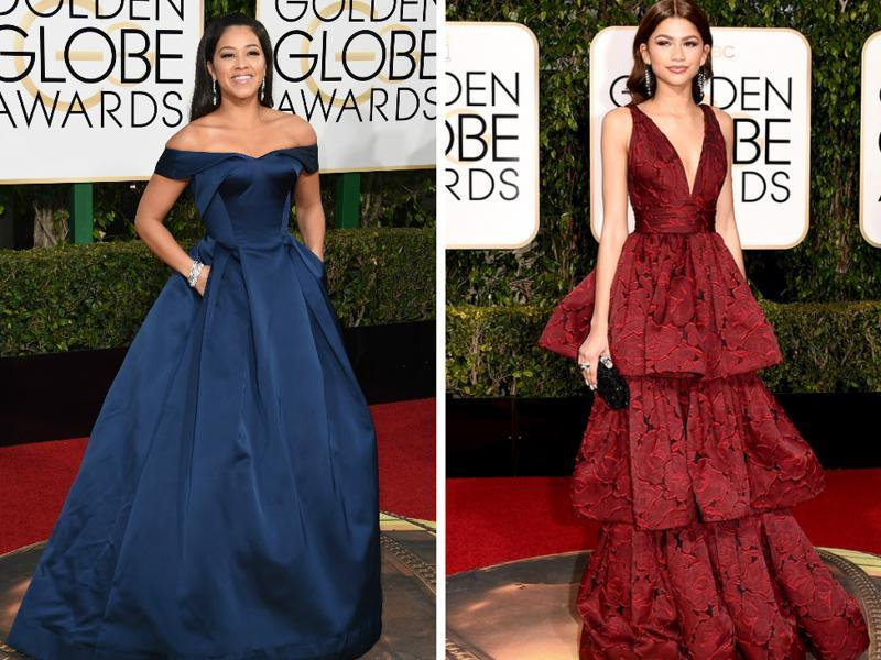 Gina Rodriguez and Zendaya  rock some serious fashion at the Golden Globes red carpet. (Agencies)