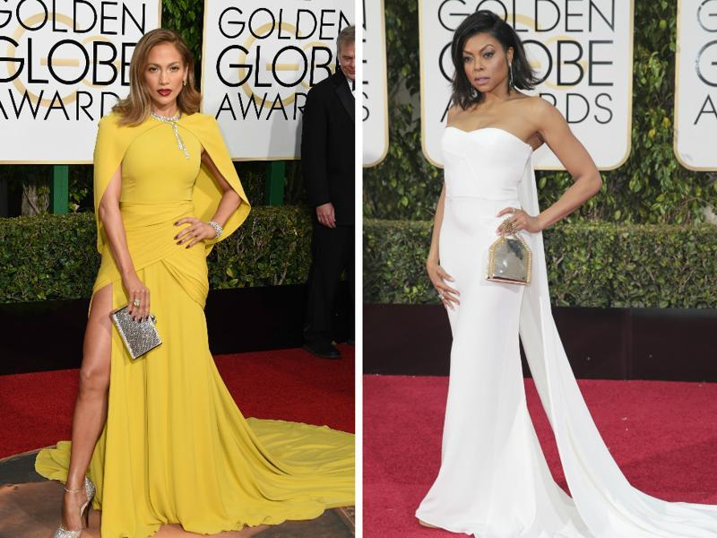 Jennifer Lopez's dreamy yellow and Taraji P Henson's queen-like white. These ladies were the red carpet winners. (Agencies)