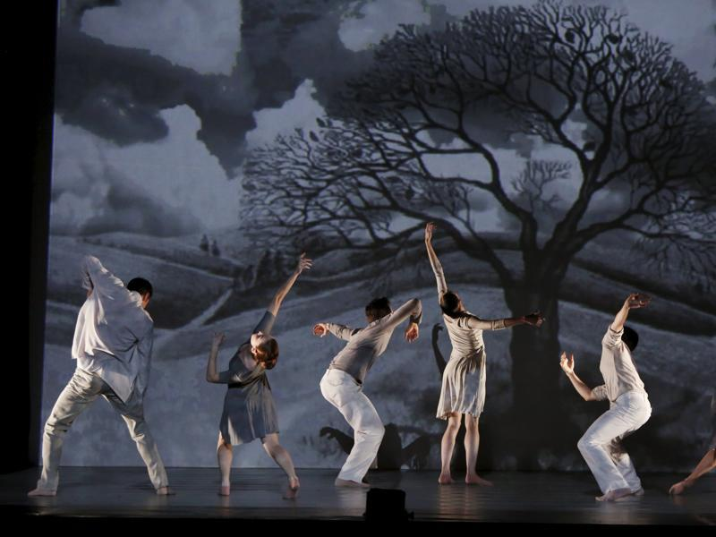 Dancers of Ballet de l'Opera Theatre De Metz Metropole of France take part in