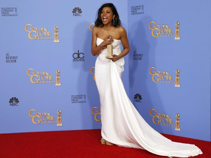 Taraji P. Henson poses with the award for Best Performance by an Actress In A Television Series - Drama for her role in Empire during the 73rd Golden Globe Awards in Beverly Hills, California January 10, 2016.  (REUTERS)