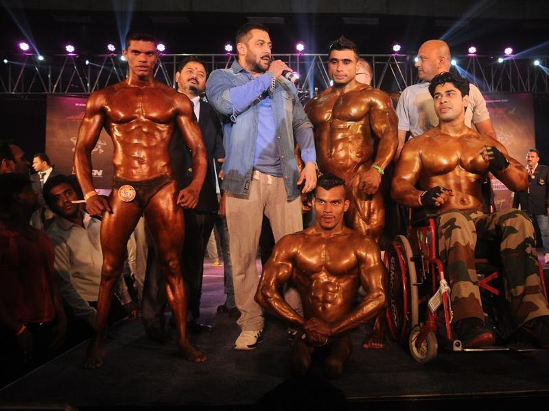 Salman Khan at the Body Building competition at BodyPower Expo in Mumbai on 10 Jan, 2016.  (IANS)