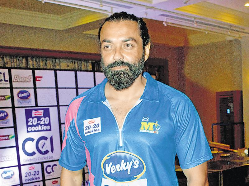 Bobby Deol poses for the shutterbugs at an event in Mumbai. (Photos: yogen shah)