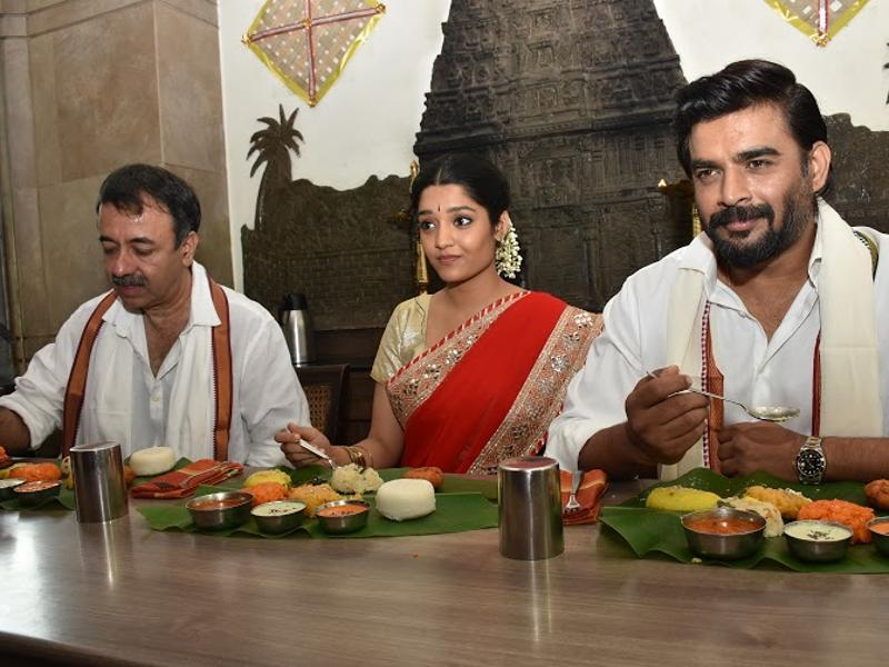 The cast of Saala Khadoos get together for a festive breakfast to celebrate Pongal.  (UTV MOtion Pictures)