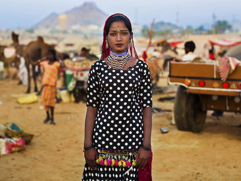 """ A Kalbelia woman at the Pushkar Camel Fair"" (Photo: Mihaela Noroc)"