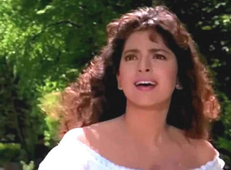 Juhi Chawla in a still from Darr (1993), where she was paired opposite SRK and Sunny Deol.