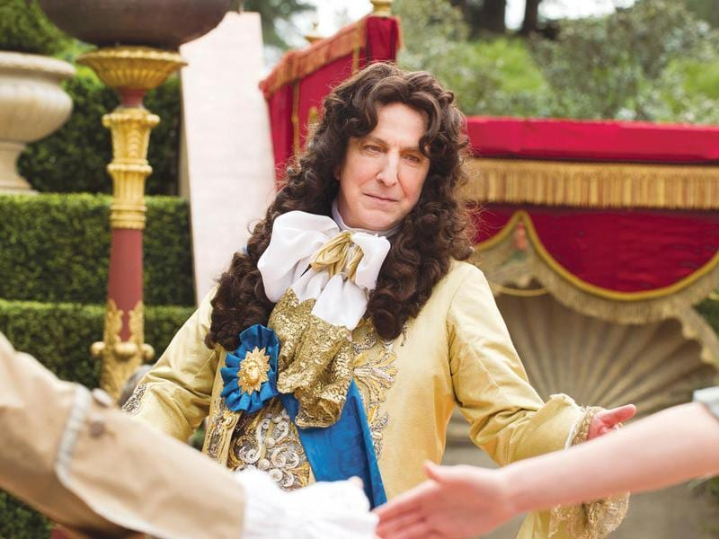 Alan Rickman plays France's King Louis XIV in the romantic drama A Little Chaos on which he is also the director and co-screenwriter.   (Focus Features)