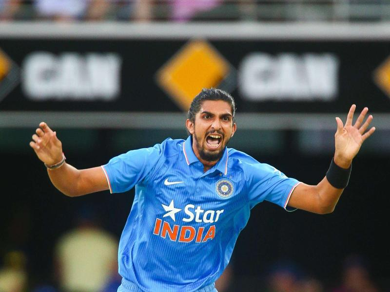 India's Ishant Sharma reacts during the one-day international cricket match. (AFP Photo)